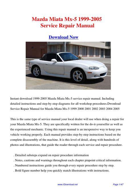 how to download repair manuals 2004 mazda miata mx 5 lane departure warning 1999 2005 mazda miata mx 5 factory repair manual by gipusi samu issuu