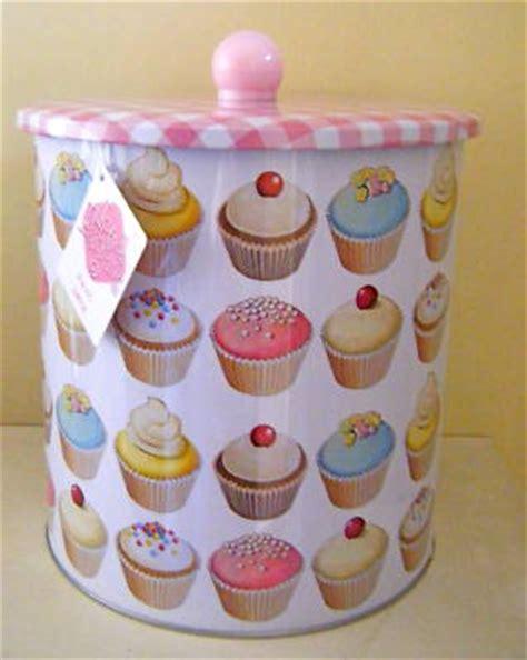 cupcake kitchen decor blossombudlove cupcake gingham biscuit barrel tin pink