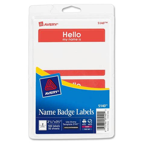 avery 5140 adhesive name badge labels the office dealer