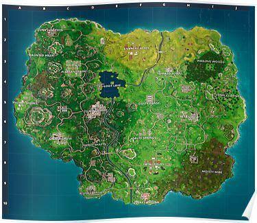 fortnite map poster map treasure maps games