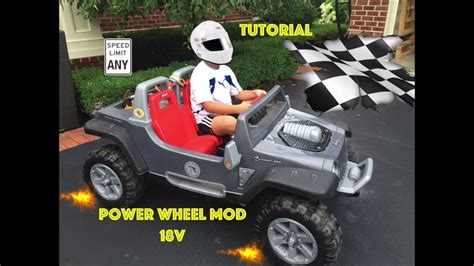 Safest Power Wheels Jeep Hurricane Modification Youtube