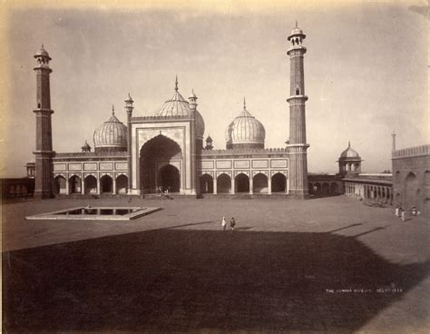 jama masjid delhi  century image   mosque