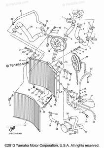 Yamaha Motorcycle 2006 Oem Parts Diagram For Radiator Hose