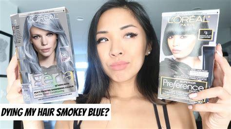 Dying My Hair Smokey Blue?! Loreal Paris Feria Smokey