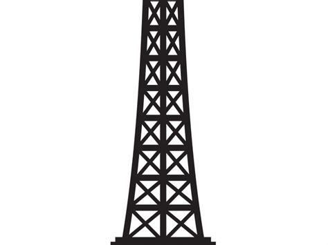eiffel tower clipart black  white