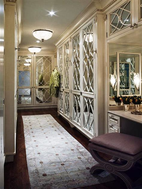 mirrored doors contemporary closet traditional home