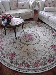 Vintage Teppich Rund : romantischer teppich rosen shabby chic vintage landhaus rund 200 cm ebay ~ Indierocktalk.com Haus und Dekorationen