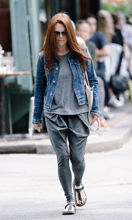 julianne moore wearing birkenstock shoes products  love