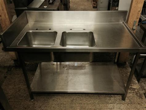 bowl sinks for sale secondhand catering equipment double sinks 1450 x 760