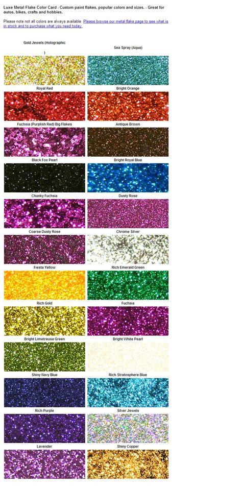 metal flake color card metal flake