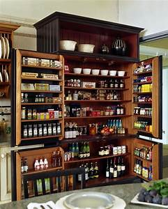 cool freestanding pantry in kitchen traditional with