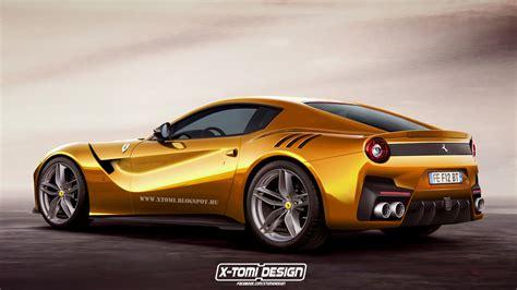 digitally rendered ferrari  gto exudes power carscoops