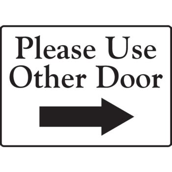 use other door use other door right arrow interior decals 1 sided