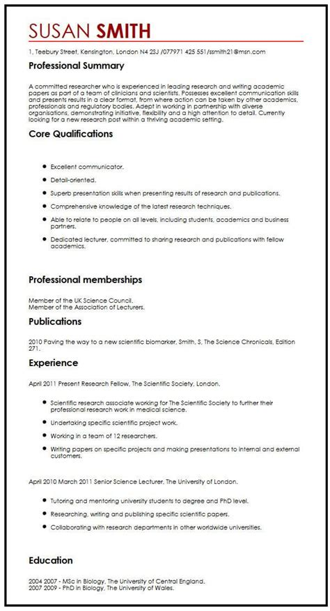 Publications On Resume by Cv Sle With Publications Myperfectcv