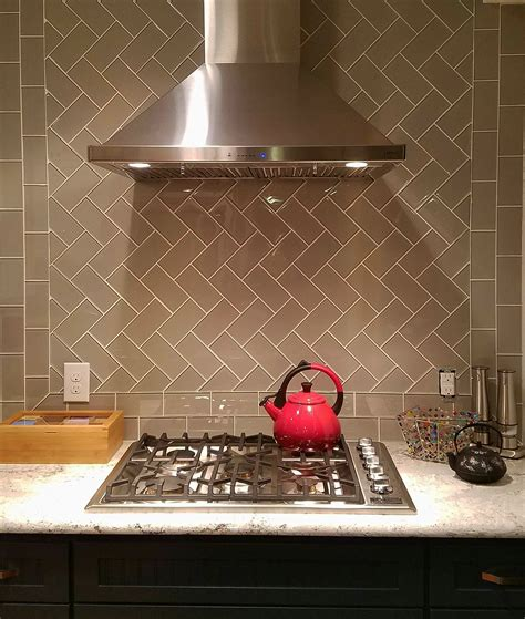 Kitchen Backsplash And Subway Tile by Taupe Glass Subway Tile In 2019 Kitchen