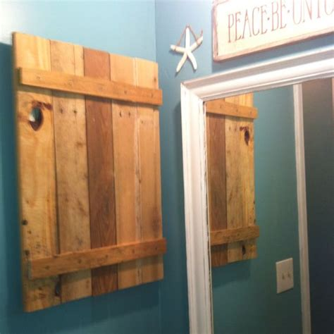 building cabinets out of pallets hand made medicine cabinet out of a pallet diy ideas