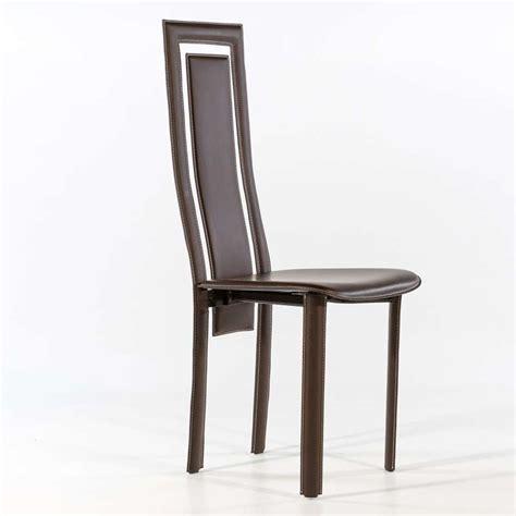 chaises salle à manger cuir chaise de salle à manger en croûte de cuir betty 4
