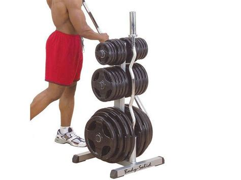 body solid olympic plate tree   bar rack commercial grade adamant barbell