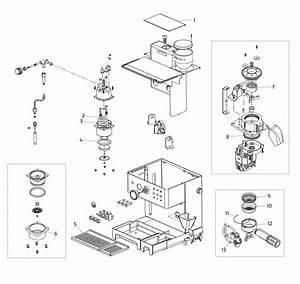 La Pavoni Domus Bar Spare Parts Diagram