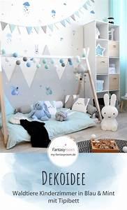 Matratze 70x140 Dänisches Bettenlager : waldtiere zimmer in blau mint bei fantasyroom online von babyzimmer deko blau photo haus ~ A.2002-acura-tl-radio.info Haus und Dekorationen
