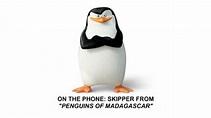 On the phone: Skipper. - Penguins of Madagascar Photo ...