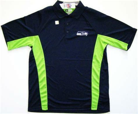seattle seahawks polo casual shirts ebay