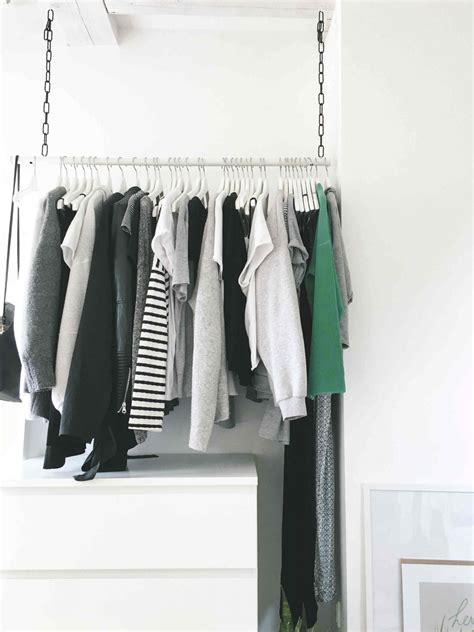 Kleiderstange Decke by Diy Wardrobe Area H 228 Ngende Kleiderstange Do Live