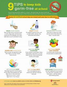Infographic  9 Tips To Keep Kids Germ