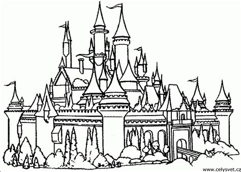 Coloring Home by Disney Castle Coloring Pages Printable Coloring Home