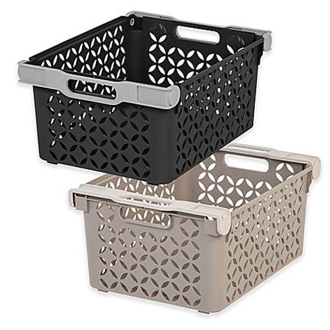 Iris® Decorative Storage Baskets (set Of 2)  Bed Bath