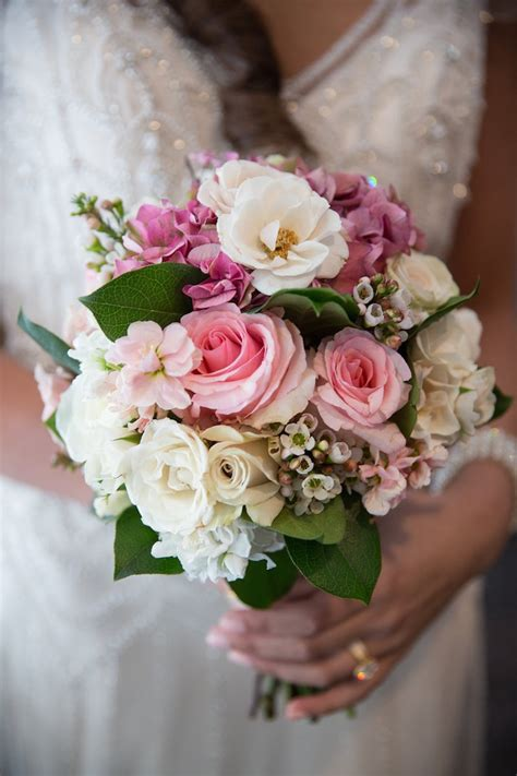 Bouquets Photos Small White And Pink Bridal Bouquet