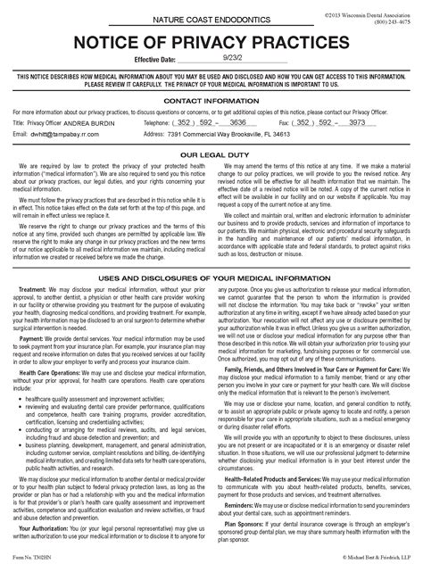 privacy policy form privacy notice template templates