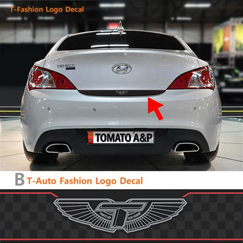 Rear Trunk Tuning Decal T Logo Glossy Type For 08 11