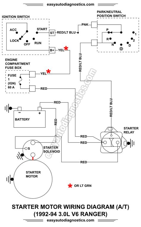 Ford 4 2l Engine Starter Wiring by Part 1 1992 1994 3 0l Ford Ranger Starter Motor Circuit
