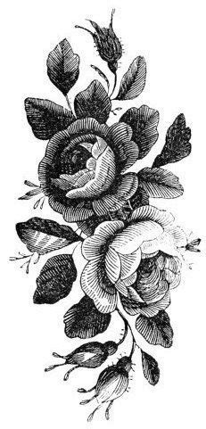 Temporary Tattoo - Vintage Rose Tattoo - Various Patterns and Sizes / Tattoo Flash | snapbacks