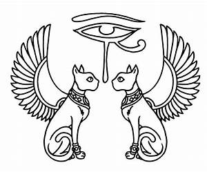Image - Egyptian-eye-of-horus-with-cats-and-wings-tattoo-o ...