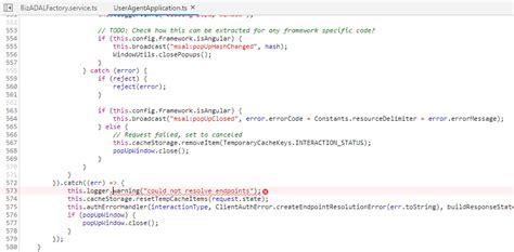 1176 behavior expected typeerror uncaught promise logger warning function ts