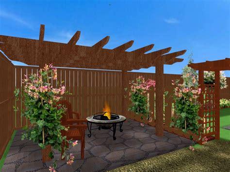 homes settling   unsettling patio backyard log cabin