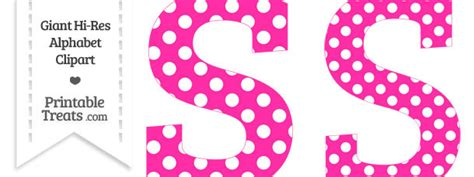 hot pink polka dot letter  clipart printable treatscom