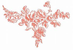 Antique Graphic Engravings - French Roses - The Graphics Fairy