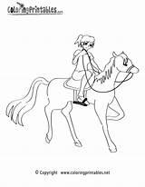 Coloring Riding Horseback Horse Printable Drawing Colouring Horses Sheets Coloringprintables Printables Lessons Getdrawings sketch template