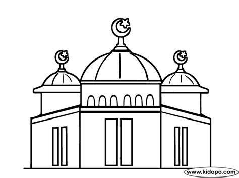 mosque coloring page p color  badd mosque color
