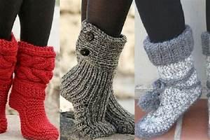 Modele De Tricotin Facile : patron tricot pantoufle facile gratuit ~ Melissatoandfro.com Idées de Décoration