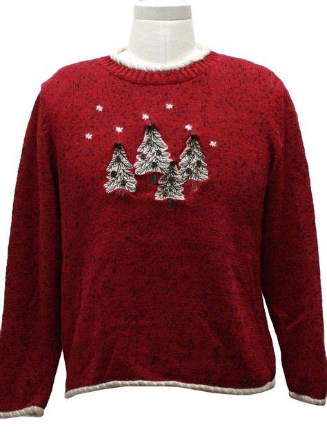 womens not really even trying ugly christmas sweater