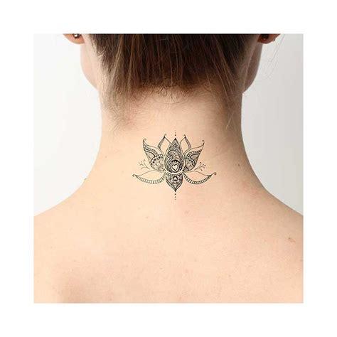 Tatouage Temporaire Fleur De Lotus  Tatouage Temporaire