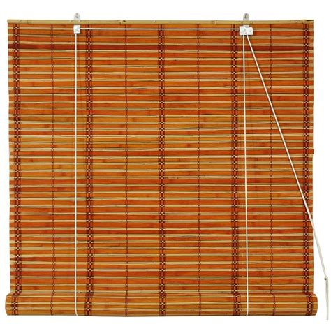 roll up bamboo blinds furniture burnt bamboo roll up blinds mahogany