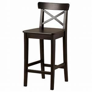 Black Ikea Breakfast Bar Chair With Back - Decofurnish