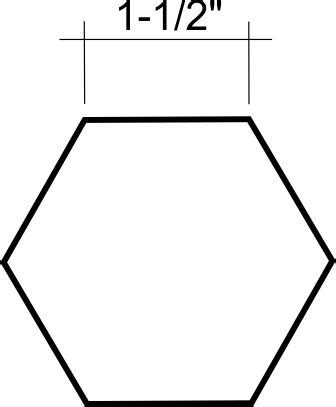 Hexagons, English And Templates