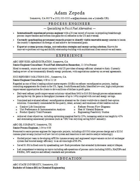 Engineer Resume by Process Engineer Resume Sle