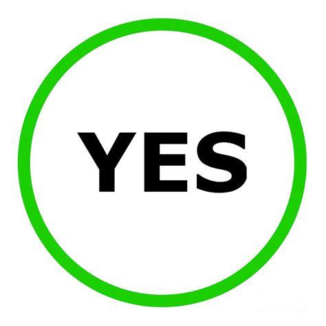 yes sign digital by henrik lehnerer